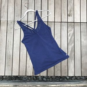 GAP Fit Blue Twisted Racer Back Athletic Tank Top